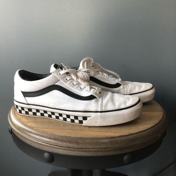 White Checker Sole Old Skool Vans